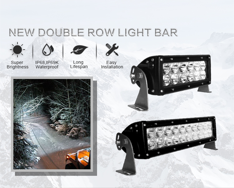 IP69K waterproof AURORA 10inch 4wd car led light offroad light bar truck accessories