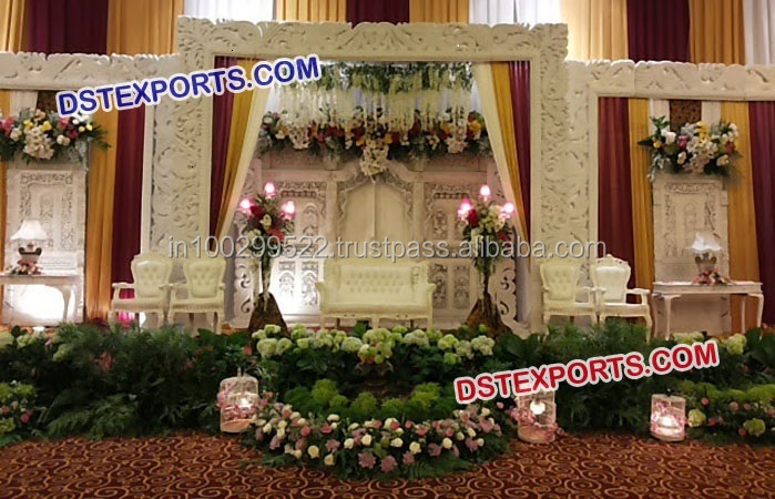 Beautiful Wedding Stage Backwall Frames Panels/Indian Wedding Stage Decoration Frames