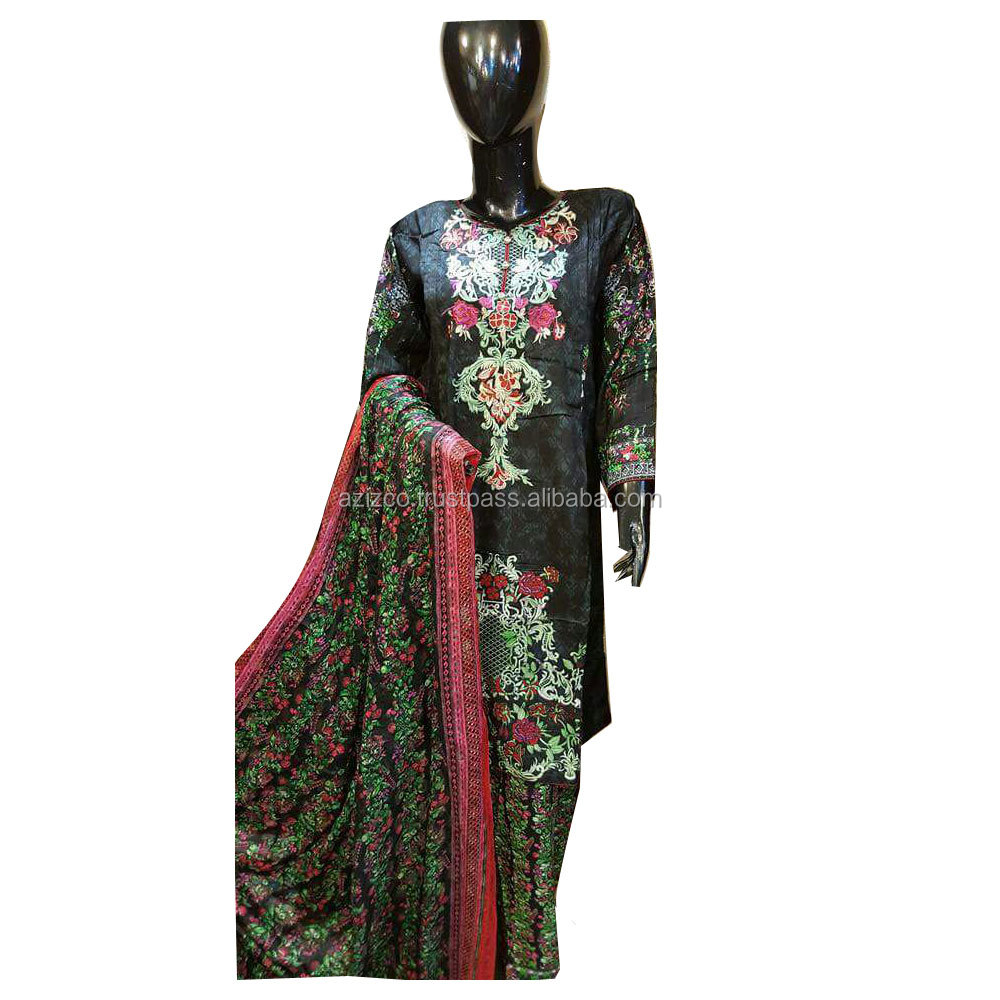 Ladies Winter Design Khaadar Stitched Shalwar Kameez\Casual Wear