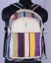 Multicolour Stylist Hemp Backpack HBBH 0011