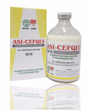 Hot sale, GMP, Cefquinome sulfate 2.5% suspension injection for veterinary medicine/cattle/animal < ASIFAC>, Cefquinome sulfate