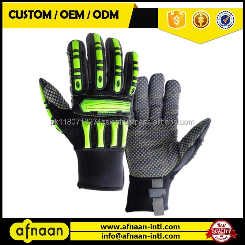 High Quality SAFETY IMPACT LINED MECHANIC GLOVES / Impact Gloves for Oil and Gas industry