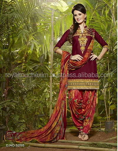 simple cotton salwar kameez sleeves design online sale with dupatta