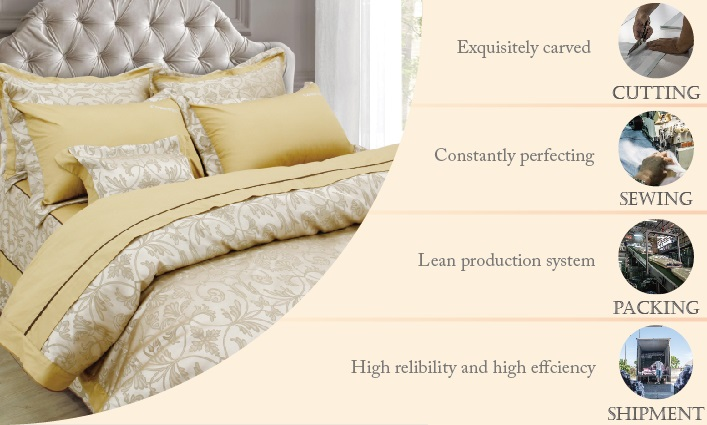Plain woven jacquard wedding king size fitted bedspread bedspreads