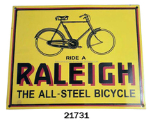 RALEIGH THE ALL STEEL BICYCLE CAST IRON WALL SIGN