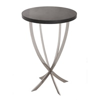 hot selling round industrial vintage Black Wooden Top and Stainless Steel Base End Table bedside table home decor