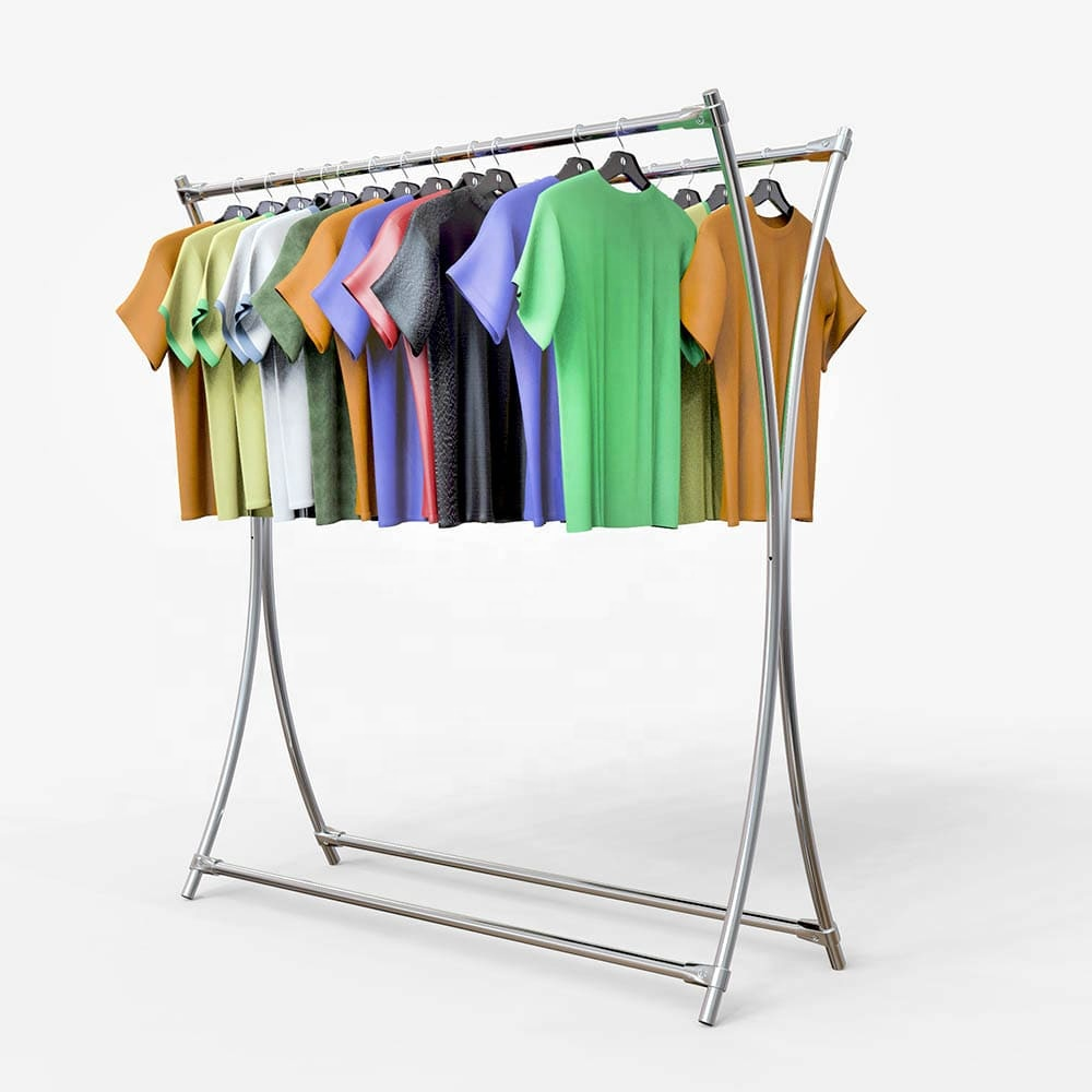 Metal double clothes rack for modern store display <strong>11</strong>