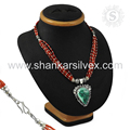 High quality design multi gemstone necklace handmade silver jewelry 925 sterling silver wholesale jewellery