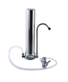 Olympus+ Water Filter System -Countertop Ceramic Water Filter for Hardness Removal Stainless Steel
