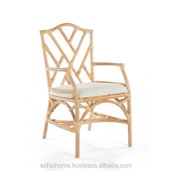 ACHIO Vietnam natural rattan chair with arms and plastic strip SGS, INTERTEK (skype: rock4h)