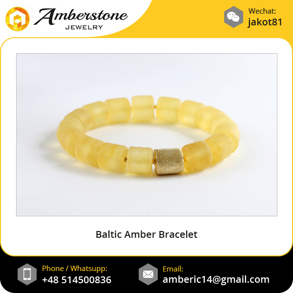 Luxurious Gold Plated 925 Silver 100% Natural Baltic Amber Bracelet