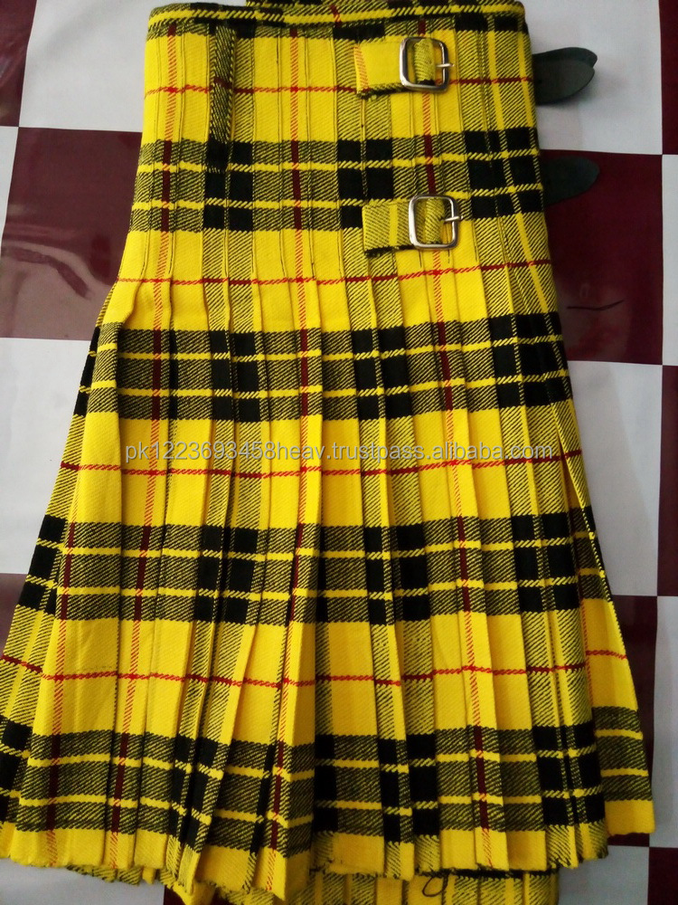Scottish Active Men Macleod Tartan Prime Utility Fashion Kilt Acrylic