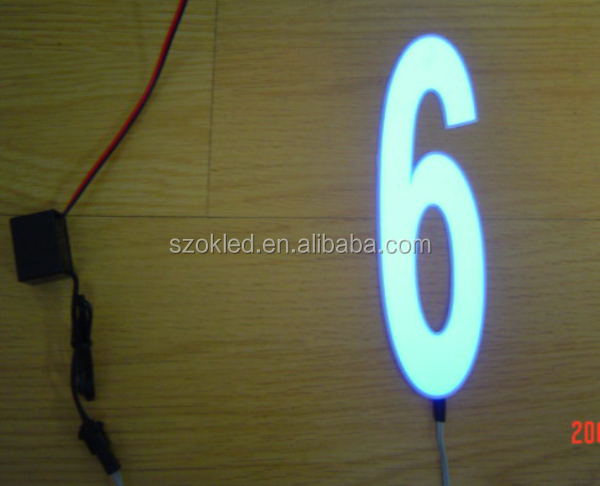 Hot Sale! 0-9 Light Up Electroluminescent Numbers