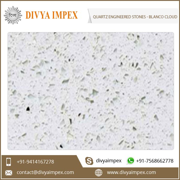 Artificial Quartz Engineered Stone Blanco Cloud Quartz Engineered Slab