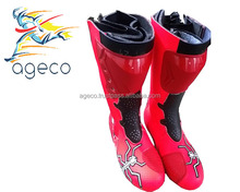 Women Pink Motorcycle Motorbike ridding racing boots shoes Protective Motorcycle boots / Shoes