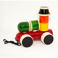 Wooden Eco friendly and toxic free Block build Train toy for kids