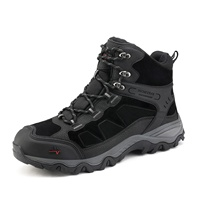 Wholesale Men's Waterproof Outdoor Mid Trekking Mountaineering Shoes Ankle Hiking Boots