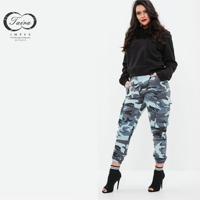 Women Good Quality Camouflage Trouser design