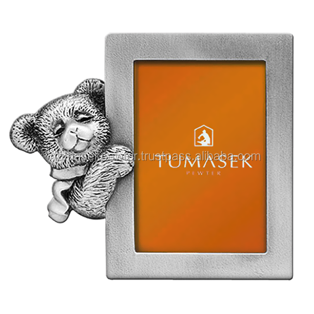 Factory Direct Mini Pewter Photo Frame Teddy Bear