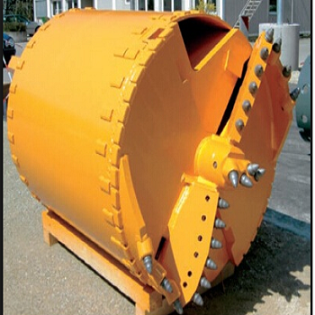 Drilling Rig Auger Bucket with Bullet Teeth For Drilling Hard Rock Formation