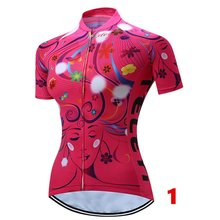 Women's Flower Cycling Jersey Short Sleever Bicycle Jersey Top/Suit Sportwear Clothing