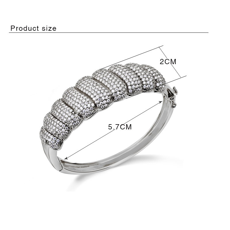 Exaggerated Design Pave Setting Zircon stones CZ Luxury Jewelry for Women Bracelet