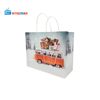 white kraft paper shopping bag with twisted rope handle