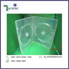 CD DVD DOUBLE 14MM SUPER CLEAR Plastic CASE