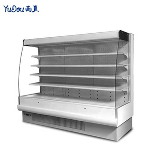 commercial display freezer for supermarket restaurant refrigerator fruit fridge cabinet