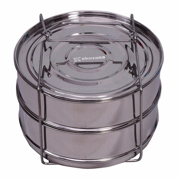 Pressure Cooker Steamer Insert Pans with lid Stainless Steel