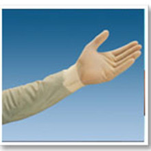 Cleanroom Long Length latex Rubber Safety Hand Gloves 600mm