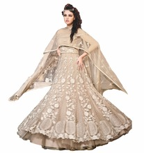 2017 Engagement Wear Anarkali Lehenga Gown Designs / Latest Heavy Embroidery Work Anarkali Lehenga Suits (anarkali dresses)