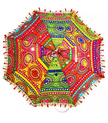 24x28 Inches Handmade Embroidery Wedding Decoration ParasoI Indian Umbrella