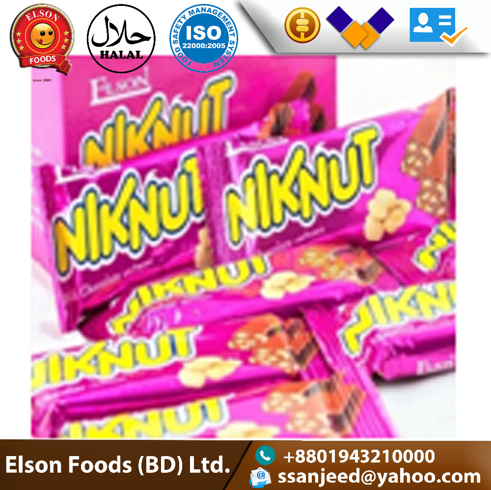 Hot sale Automatic Twin Candied Food Multi-Colored Delicious Chocolate Bar with peanut