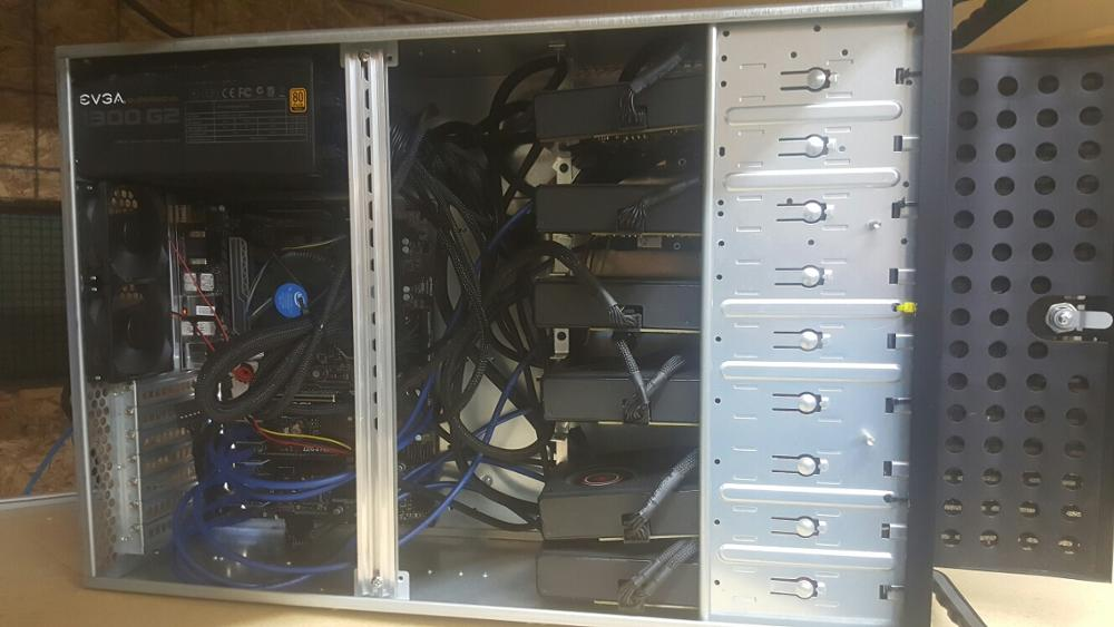 Ethereum 180MH/s CryptoCurrency Miner in Server Case 5704GB