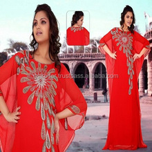 perfect design hand made Fashion Bride Girl Caftan Kaftan for Wedding and parties abaya
