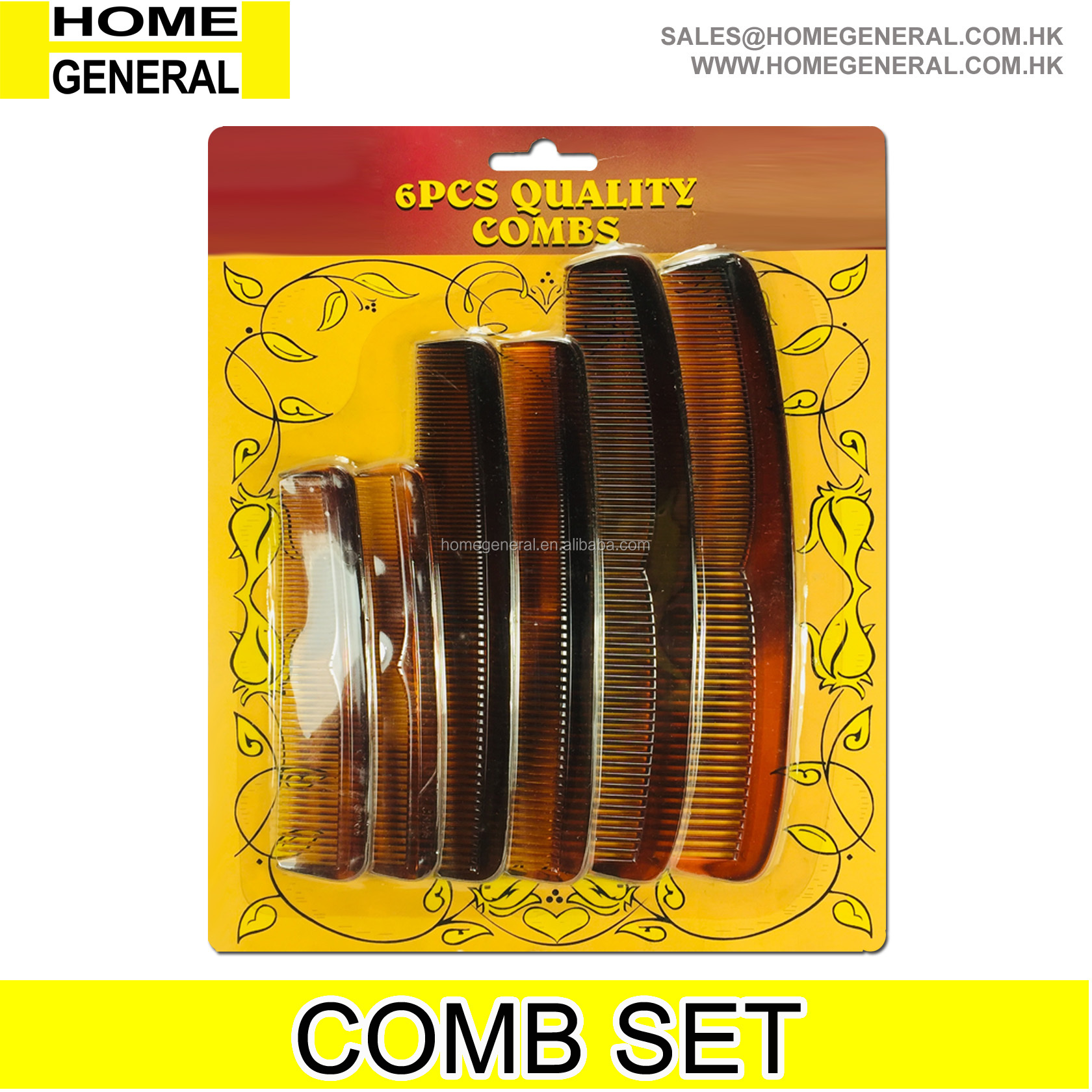 PLASTIC FAMILY COMB SET