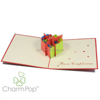 Heart Gift Box luxury laser cut pop up Valentine cards Wholesale Manufacturers