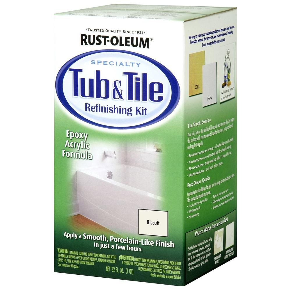 RUST - OLEUM Specialty Tub & Tile Refinishing Kit - 7862519 - Kit, Biscuit