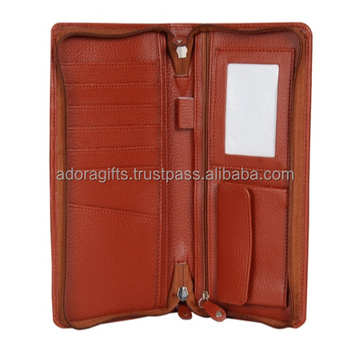 Travel wallet leather men/ travel wallet and purses handmade/ wallets for travelling