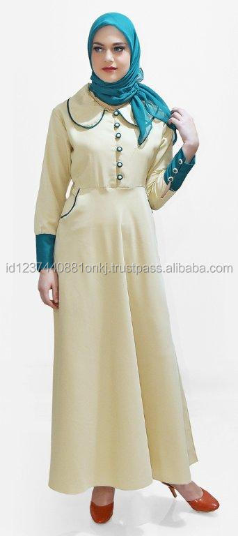 Best Collection 2017 Gamis Cream Mesya Islamic Clothing