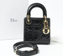 Used Dior 2way Black designer hand bags for bulk sale for retailers.