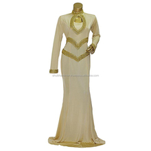 Dubai Beaded Full Sleeve Lycra Kaftan Abaya