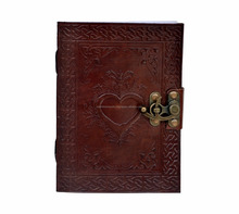Celtic Heart Handmade Book Of Shadows Wicca Leather Bound LOVE Journal Pagan