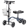 "FOLDABLE KNEE WALKER WITH REMOVABLE BASKET/STEEL KNEE SCOOTER ""MIT"" Hot in US"