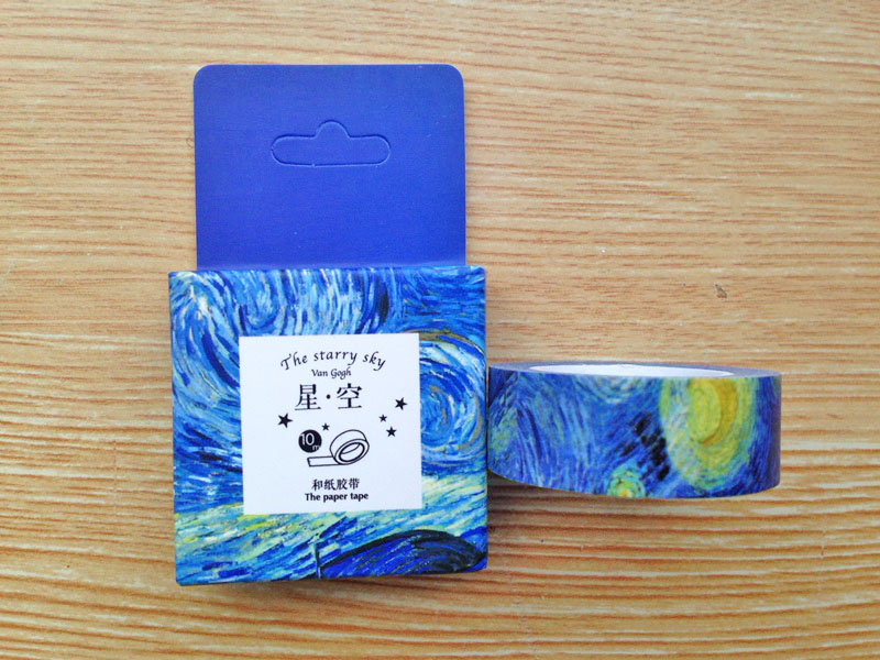 15mm x 10m Limited Edition Van Gough Starry Night Decorative Washi Tape