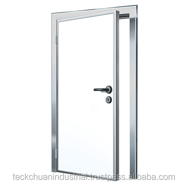 Polyurethane Insulated Clean Room Cabin Office Door With Glass Window