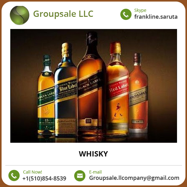 Bulk Supplier of Johnny Walker Whisky/ Scotch Whisky at Affordable Price
