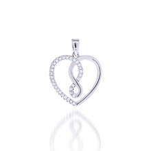 925 Silver Classical Heart Pendant