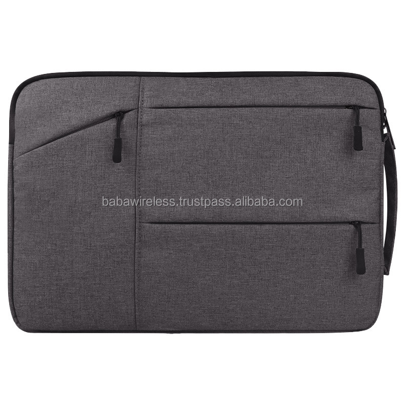 Hot designer 13 inch canvas Laptop sleeve Case Cover Bag with handle padded